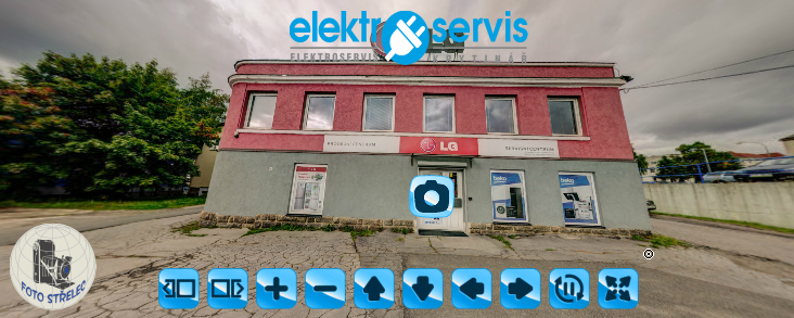 Virtuální prohlídka prodejny a servisu elektro Krytinář